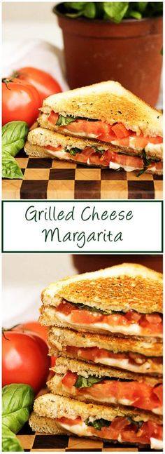 A grilled cheese margarita sandwich with perfectly toasted sourdough and all the flavors of the famous pizza including basil, mozzarella, and tomatoes. via @berlyskitchen