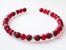 Rote Kette Collier rot Polariskette