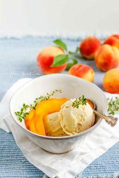 Roasted Paleo Peach and Thyme Paleo Ice Cream Recipe
