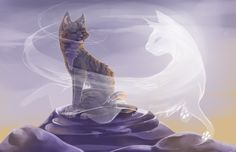 I hear you in the wind by Finchwing on deviantART Jayfeather and Halfmoon's story is so touching. This is probably my favorite picture by finch wing