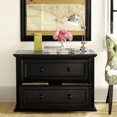 """Home Office Ensemble File Console  to accompany desk (file cabinet in TuscanCream. Dimensions:  Overall: 28 1/2""""H X 40 3/4""""W X 19 5/8""""D  Drawer Interior: 9 3/4""""H X 31 1/2""""W X 15 1/2""""D  Construction: Constructed of hardwood and fine veneers. File console accommodates both legal and letter-size files. All drawers open smoothly on accuride glides. 549.00"""