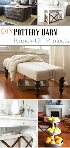 DIY Pottery Barn Knock-Off Projects                                                                                                                                                                                 More