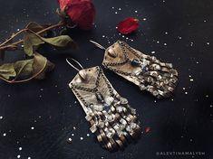 Silver Earrings dangle Bohemian for women stud earring