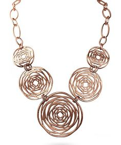 Look what I found on #zulily! Rose Goldtone Open-Medallion Bib Necklace #zulilyfinds