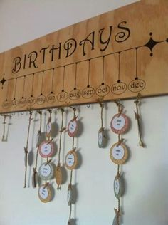 Birthday wall idea.  Love it
