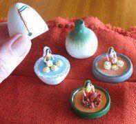 El Salvador - hand made (clay) miniatures from Ilobasco / suchitoto.tours @gmail.com