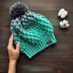 Ideas para el hogar  Gorro tejido con lana matizada Invierno Acogedor 57fb9e85e48