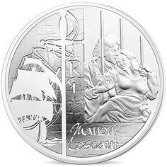 France, Monnaie de Paris, 10 Euro Manon Lescaut, 2015, MS(65-70), Silver