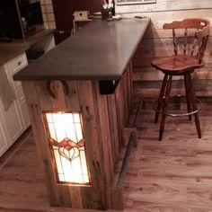 Mon bar en bois de palette / pallet wood bar