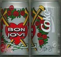 Bon Jovi Coca Cola Can with Jon's signature (plate signed).