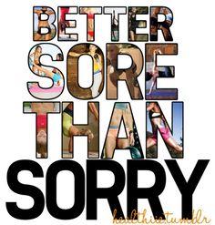 Oh ya... Love that sore feeling :)