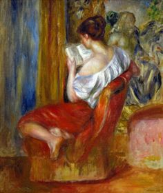 Reading Woman, ca. 1900, Pierre-Auguste Renoir                                                                                                                                                      Mais