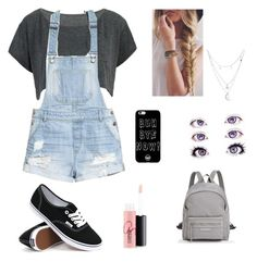"""""""Untitled #334"""" by directionersmilesvegettil908 ❤ liked on Polyvore featuring H&M, Vans, Longchamp, Charlotte Russe and MAC Cosmetics"""