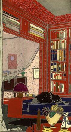 """EMILE-JACQUES RUHLMANN: """"Boudoir-Library """", 1918."""