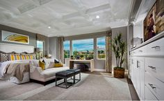 The master suite overlooks the serene backyard setting and features a spa-like bath with a spacious walk-in closet, soaking tub and separate shower that combine to create the ultimate retreat.- Residence Four at The Reserve at Browns Valley in Vacaville, CA