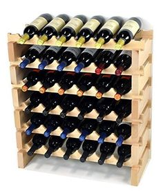 Best Wine Rack | Wine Rack Wood 36 Bottles Modular Hardwood Wine Racks 6 bottles x 6 shelves *** Check out this great product.(It is Amazon affiliate link) #f4f