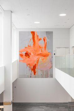 Orange Home Decor, Minimalist Artwork, Jazz Art, Orange House, Mirror Painting, Meditation Space, Colorful Interiors, Art Lessons, Mirrors