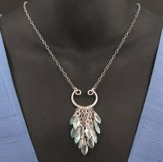 Sterling silver icicles necklace