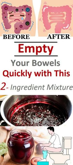 Use This 2-Ingredient Mixture To Empty Your Bowels Quickly