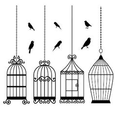 Shery K Designs: Free Digi Stamps | BIRD CAGES