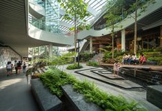 Image 4 of 50 from gallery of Mega Foodwalk / FOS. Photograph by Rungkit Charoenwat Architecture Durable, Architecture Courtyard, Retail Architecture, Facade Architecture, Sustainable Architecture, Landscape Architecture, Design Plaza, Atrium Design, Mall Design