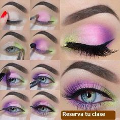 When it comes to eye make-up you need to think and then apply because eyes talk louder than words. The type of make-up that you apply on your eyes can talk loud about the type of person you really are. Bright Eye Makeup, Purple Makeup, Pretty Makeup, Love Makeup, Stunning Makeup, Pink Eyeshadow, Eyeshadow Makeup, Eyeliner, Bad Makeup