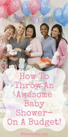 """Baby shower on a budget - """"Throwing a baby shower is exciting, but also expensive. Here are some amazing ideas on a budget-friendly shower that you will love! Shower Bebe, Baby Shower Fun, Baby Shower Gender Reveal, Baby Shower Favors, Shower Party, Baby Shower Parties, Baby Shower Themes, Baby Shower Decorations, Baby Boy Shower"""