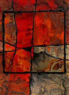 Gemstone 28, 103016 by Carol Nelson mixed media ~ 7 inches x 5 inches