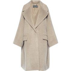 Alberta Ferretti Baby Alpaca Wool Oversized Coat (51.445 ARS) ❤ liked on Polyvore featuring outerwear, coats, alberta ferretti, jackets, coats & jackets, oversized coat, pink oversized coat, pink coats and alberta ferretti coat
