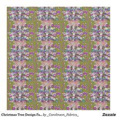 Christmas Tree Design Fabric