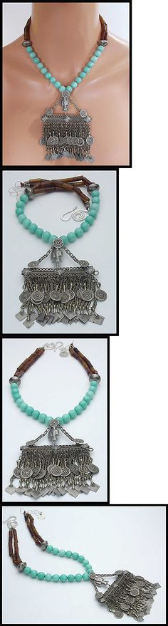 Necklaces and Pendants 98481: Old Afghani Amulet - Mixed Jade - Afghani Pendant Statement Necklace -> BUY IT NOW ONLY: $229 on eBay!