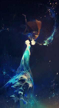 A collection of Jelsa fan art featuring Frozen& Queen Elsa and Rise of the Guardians& Jack Frost. Frozen Disney, Disney Pixar, Disney E Dreamworks, Disney Magic, Disney Movies, Elsa Frozen, Elsa Elsa, Frozen Movie, Punk Disney