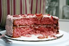 Strawberry Cake #recipe #cake #strawberry