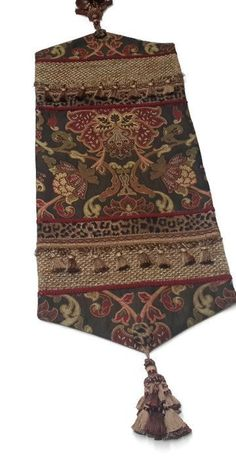 Brown Woven Damask Elegant Table Runner, Animal Print, Size 33 in x 13 in by CVDesigns on Etsy