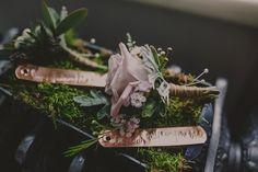 Pale pink rose button hole. Photography by Lottie Elizabeth.