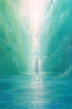 Pin by Vb Shalom on Steiner painting Spiritual Paintings, Prophetic Art, Jesus Art, Jesus Christ, Biblical Art, Jesus Pictures, Angel Art, Visionary Art, Sacred Art