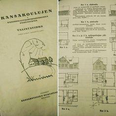 Vantaan kouluinventointityö lähenee loppuaan mutta edelleen arkistoista ja kollegoilta putkahtelee ainutlaatuisia lähteitä tutkimusta varten. Tässä 1923 julkaistu kansakoulujen valintavihko jossa suunnittelua on lähestytty nais- tai miesopettajan näkökulmasta. Moinen sukupuolittunut jako näkyi koulussa esimerkiksi veistosalina tai köökin asemoinnissa. Kuvassa näkyvät versiot omaavat harvinaisen suuret opettajattaren asunnot joissa on kelvannut kortteerata ja puida juonia puupäisten lasten…