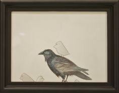 """H. Veng Smith, Crow, 2012, Water Color on Paper, 9""""x7"""".....$200"""