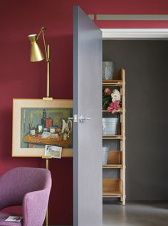 Key Paint Colours for Spring from Farrow & Ball Hallway Colour Schemes, Hallway Paint Colors, Paint Color Schemes, Paint Colours, Pink Hallway, Home Interior, Interior And Exterior, Sweet Home, Hallway Decorating