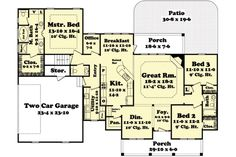 Easy barndominium floor plans are great for rural landowners who wish to design their own barndominium home. Popular Ideas The Barndominium Floor Plans & Cost to Build It French Country House Plans, Country Style Homes, Corner Gas Fireplace, Br House, Cottage House, Barndominium Floor Plans, Barndominium Texas, Farmhouse Plans, Country Farmhouse