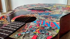 Jeff Gould gives the DIY lowdown on how to use old comics to make a rockin' piece of art. #comics #artwork #guitar #diy #craft #design #cool