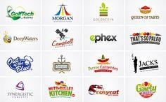 Logo design examples created by professional logo designer Daniel Evans.