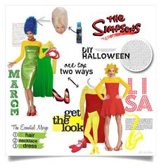 """""""The Simpsons • DIY costumes"""" by ultracake ❤ liked on Polyvore featuring NYX, J.Crew, Kissima Drammeh, diycostume and Halloween2015"""