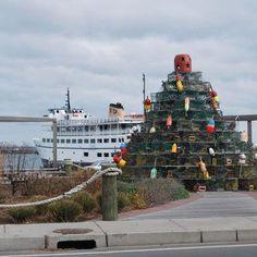 Lobster Pot Christmas Tree.                            #VisitRhodeIsland