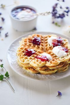 Norwegian Blender Waffles- throw all the ingredients into a bender and voila! My favorite breakfast EVER. Norwegian Waffles, Norwegian Food, Breakfast Dishes, Breakfast Recipes, My Favorite Food, Favorite Recipes, Swedish Recipes, Norwegian Recipes, Goodies