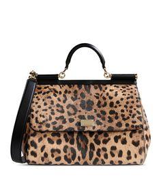 68177cb3d41 Dolce   Gabbana Leopard-Print Miss Sicily Bag Dolce And Gabbana Purses,  Dolce