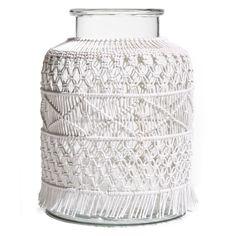 Passport Collection All Dressed Up Macramé Glass Vase - TPT100