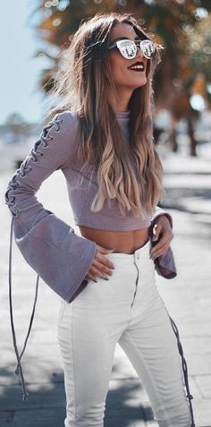 cool ootd: crop top + pants