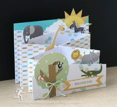 Independent Stampin' Up! Demonstrator in Poughkeepsie, New York 3d Cards, Fun Fold Cards, Folded Cards, Stampin Up Cards, Baby Boys, Cascading Card, Baby Girl Cards, Cardmaking And Papercraft, Card Tutorials