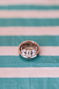 Emerald Cut Center + Double Marquise Sides   - HarpersBAZAAR.com